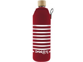 Drinkit Skleněná láhev s neoprénovým obalem Záchranář 700 ml