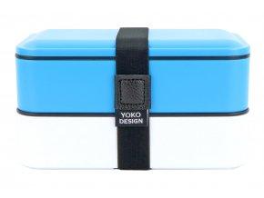 Yoko Design Dvoupatrový box na jídlo modrý