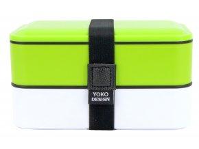 YD1627 Yoko Design box na jídlo dvoupatrový, zelený