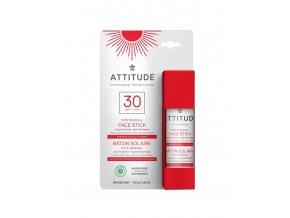 Attitude 100 % minerální opalovací ochranná tyčinka na obličej a rty SPF 30 bez vůně 18,4 g