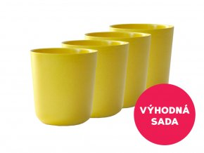Ekobo VÝHODNÁ SADA Kelímek střední 300 ml Gusto Lemon 4 ks