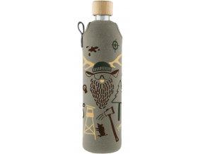 Drinkit Skleněná láhev s neoprénovým obalem Hunter 500 ml