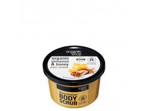 Organic Shop Tělový peeling Med a skořice 250 ml