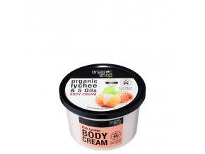 Organic Shop Tělový krém Růžové liči 250 ml