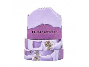 Almara Soap Přírodní tuhé mýdlo Lavender Fields 100 +- 5 g