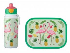Mepal Svačinový set pro děti Campus Tropical Flamingo