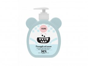 yope natural antibacterial hand wash for kids pinneaple and coconut 1