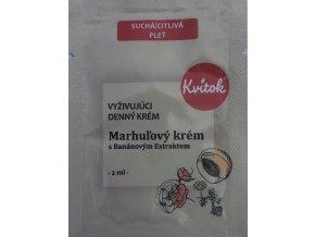 Kvitok VZOREK Denní meruňkový krém pro citlivou pleť Bio 2 ml