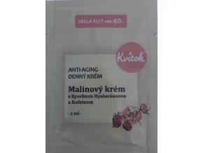 Kvitok VZOREK Denní malinový krém pro zralou pleť 40+ Bio 2 ml