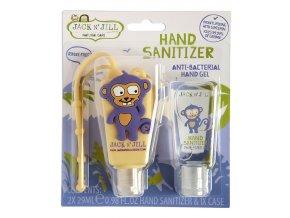 Jack n´Jill Dětský antibakteriální gel na ruce ve veselém pouzdře Opice 2x 29 ml