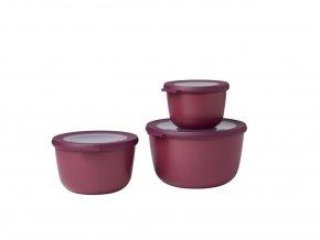 Mepal Set 3 ks misek Cirqula Nordic Berry 500+1000+2000 ml