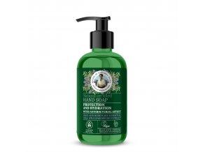 Babička Agafia Přírodní mýdlo na ruce Ochrana a hydratace 300 ml