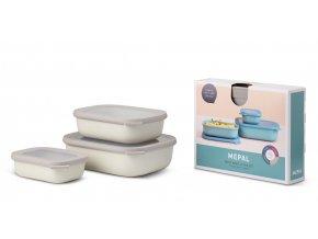 Mepal Set misek Cirqula Rectangular Nordic White 500 +1000 +2000 ml
