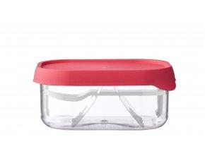 Mepal Svačinový box s vidličkou Nordic Pink 250 ml