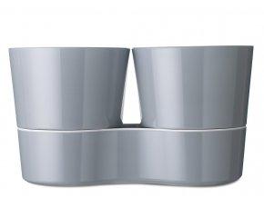 Mepal Hydrokvětináč Twin Nordic Grey
