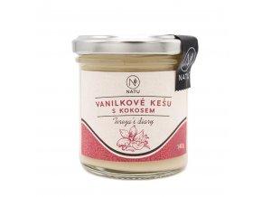 Natu Vanilkové kešu máslo s kokosem 140 g