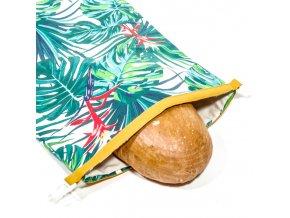 Green Smile Ekologický vak na chleba s membránou Zelená džungle