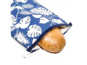 Green Smile Ekologický vak na chleba s membránou Modrá monstera
