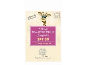 Nobilis Tilia VZOREK Dětské opalovací mléko Josefínka SPF 30 3 ml