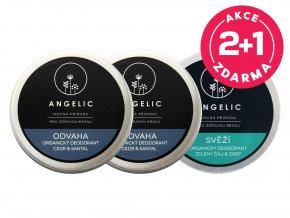 Angelic 2+1 ZDARMA Organický deodorant Odvaha + Svěží