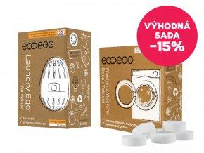 Ecoegg Výhodná sada Vajíčko na praní Pomeranč + Čistící tablety do pračky