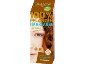 Sante Rostlinná barva na vlasy Ořechově hnědá Bio 100g