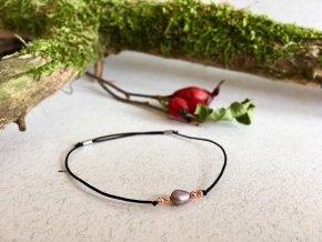 2bears Jewellery Dámský náramek s říční perlou a korálky z Hematitu