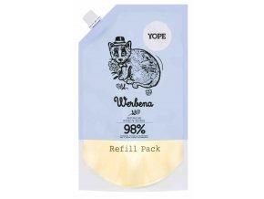 Yope Tekuté koupelnové mýdlo Verbena náhradní náplň 500 ml