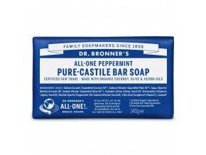 Dr. Bronner´s Tuhé mýdlo Peppermint 140g