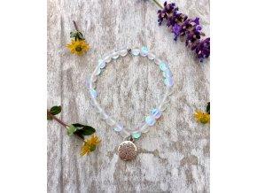 2bears Jewellery Dámský náramek z měsíčního matného kamene se symbolem strom života
