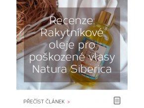 Recenze: Sada rakytníkových olejů na vlasy Natura Siberica