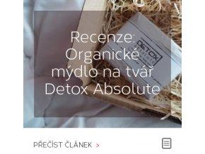 Recenze - Organické mýdlo na tvář Detox Absolute