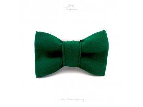 Demeven Motýlek pro psa tmavě zelený