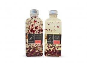 Angelic Výhodný růžový set Tělové olejové Cuvée Růže 200ml a Sprchové olejové Cuvée Růže 200ml