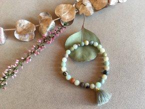 2bears Jewellery  Dámský náramek Barevný Opál a Amazonit se symbolem Anděla