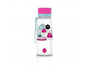 Equa Plastová lahev Pink Monsters 600 ml