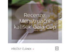 Jak na menstruační kalíšek Gaia Cup