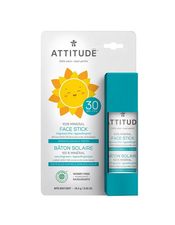 Attitude Dětská 100 % minerální ochranná tyčinka na obličej a rty SPF 30 bez vůně 18,4 g + DOPRAVA ZDARMA po celý rok!