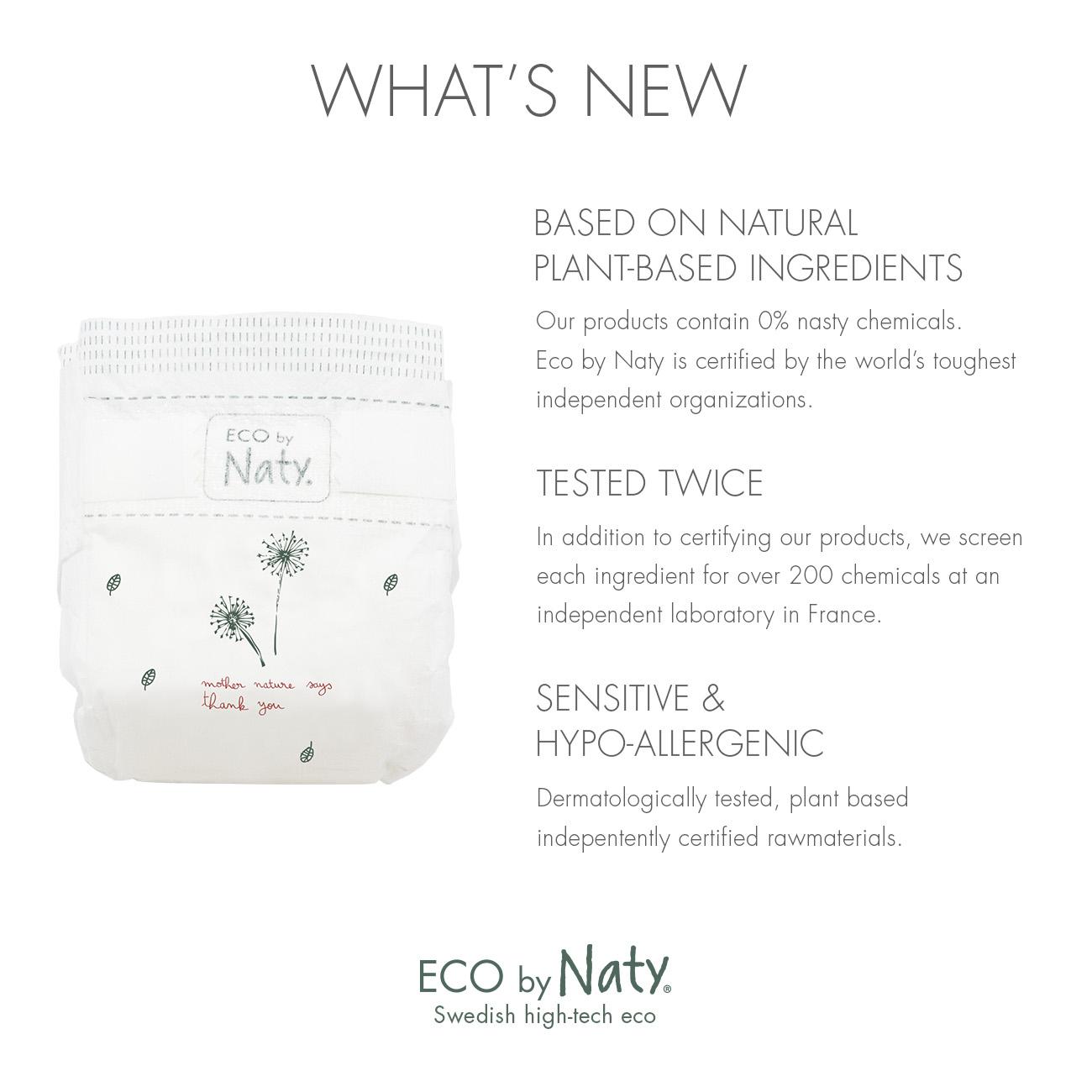 Naty Nature Babycare jednorázové eko plenky Newborn 2-5kg 26ks