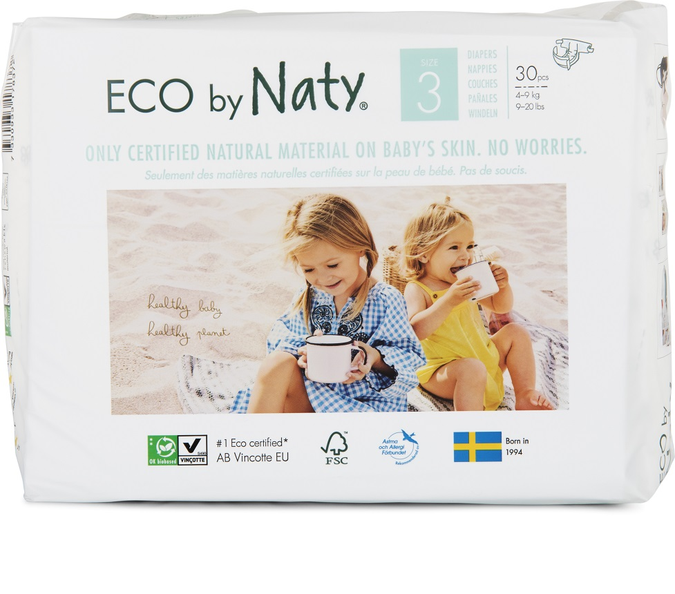 Naty Nature Babycare Midi 4-9 kg 31 ks + DOPRAVA ZDARMA po celý rok!