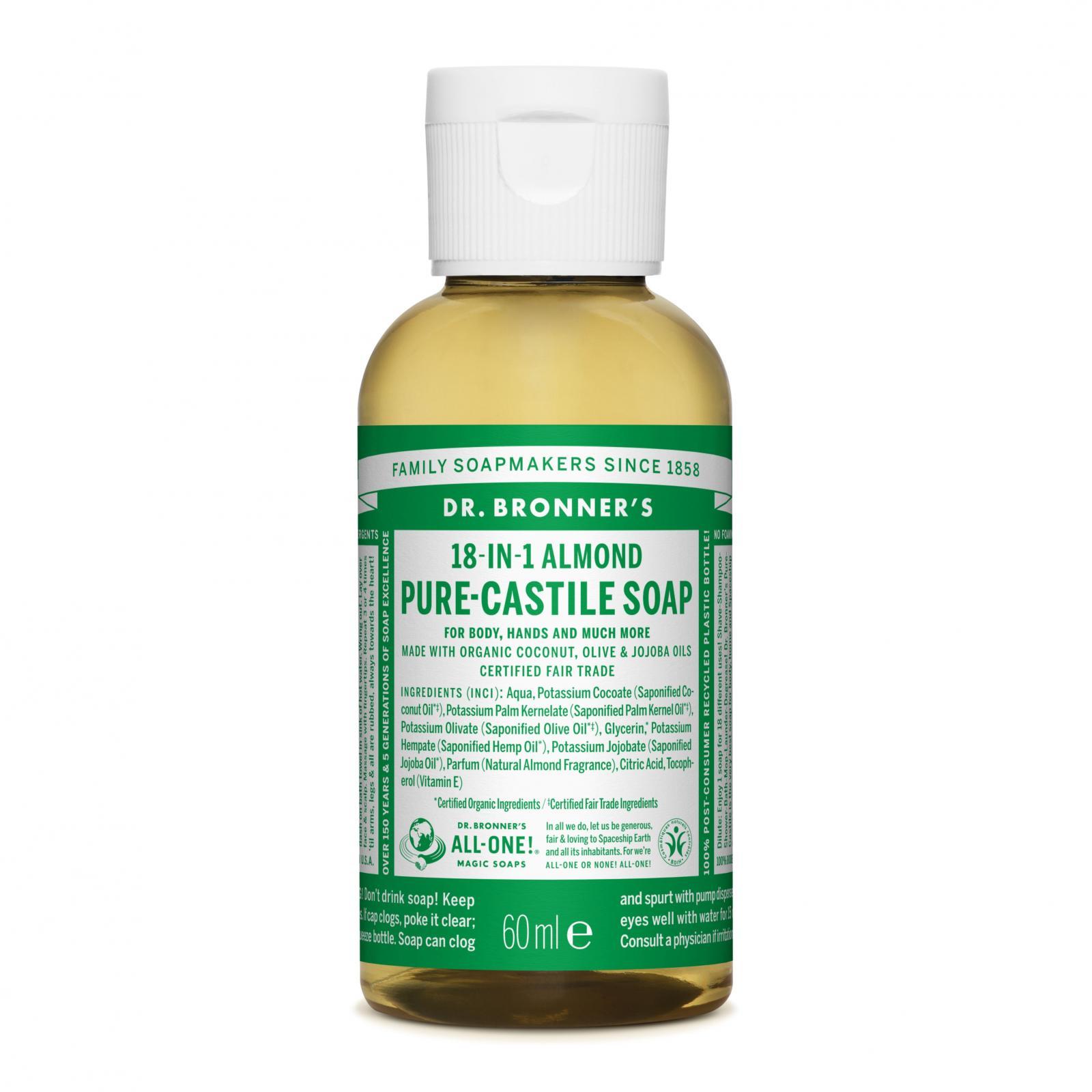 Dr. Bronner´s Tekuté univerzální mýdlo ALL-ONE!, Almond 59 ml + DOPRAVA ZDARMA po celý rok!