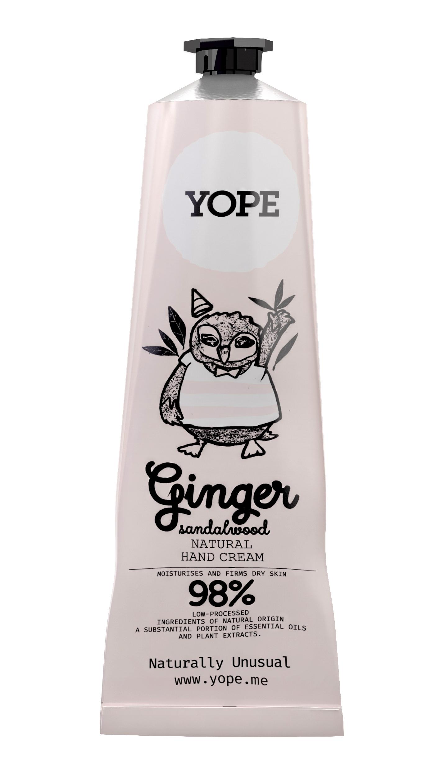 Yope Přírodní krém na ruce Zázvor a santalové dřevo 100 ml + DOPRAVA ZDARMA po celý rok!