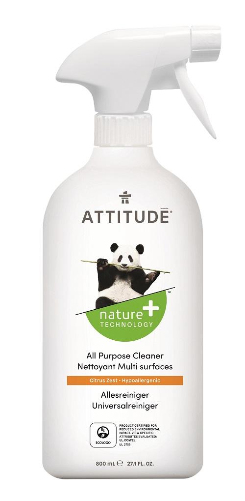Attitude Univerzální čistič s vůní citronové kůry s rozprašovačem 800 ml + DOPRAVA ZDARMA po celý rok!