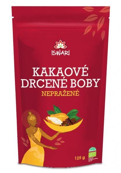 Iswari Nepražené kakaové boby drcené Bio 125 g + DOPRAVA ZDARMA po celý rok!
