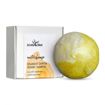 Soaphoria Tuhý šampon na poškozené vlasy NutriShamp 60 g