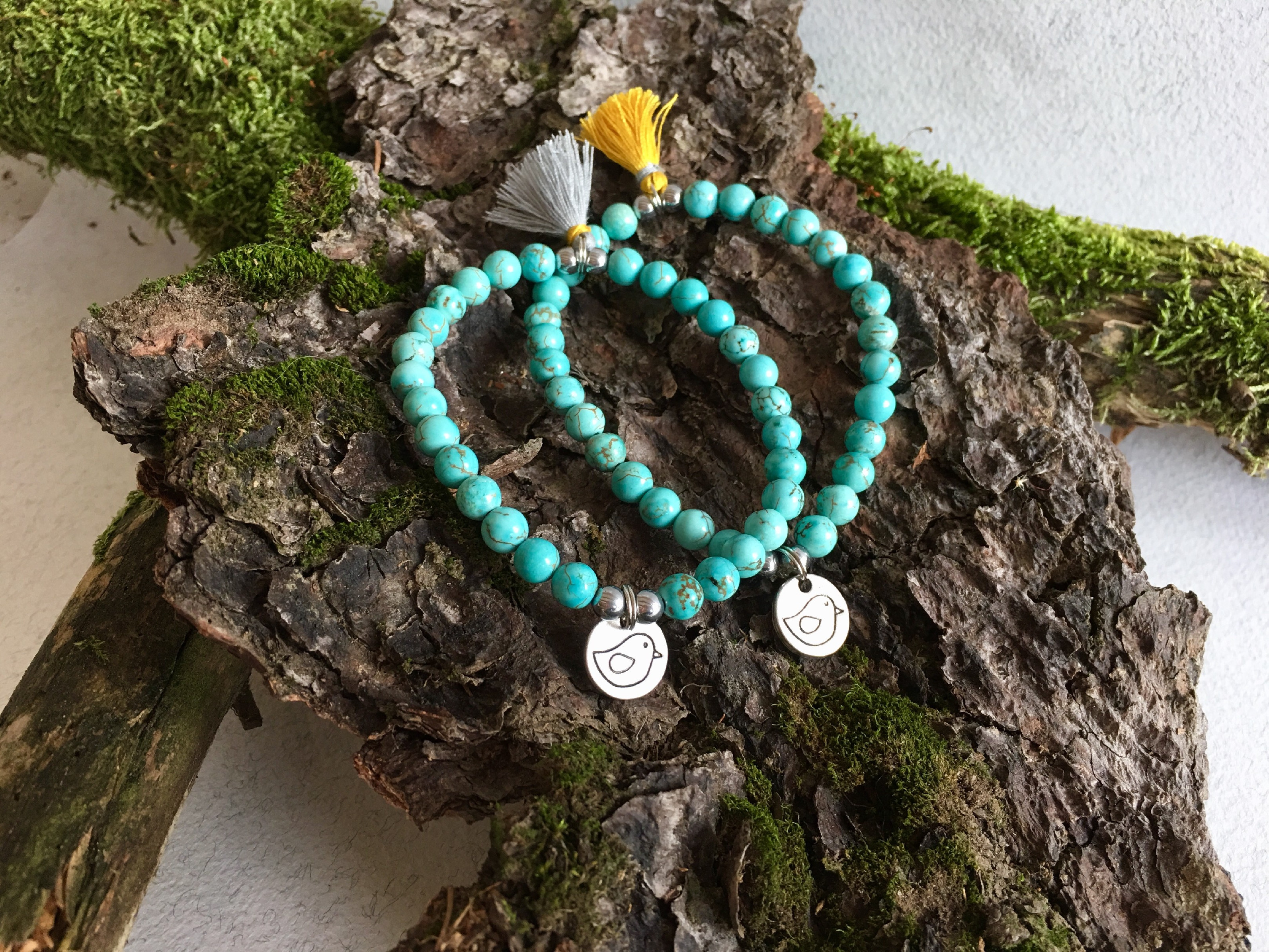 2bears Jewellery Dámský náramek polodrahokam Howlit & Tyrkys Budha náramek tyrkys & howlit: Budha Tyrkys + DOPRAVA ZDARMA po celý rok!