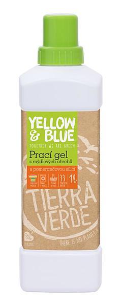 Yellow & Blue prací gel z mýdlových ořechů s pomerančovou silicí silicí 1 l + DOPRAVA ZDARMA po celý rok!
