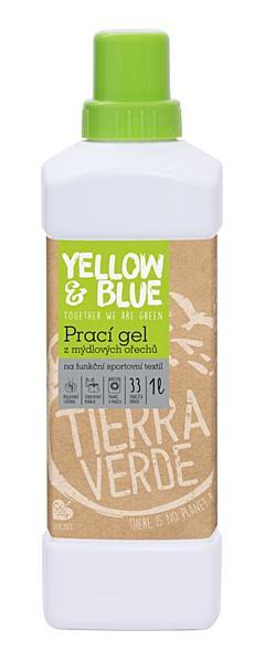 Yellow & Blue prací gel z mýdlových ořechů na funkční prádlo s koloidním stříbrem 1 l + DOPRAVA ZDARMA po celý rok!