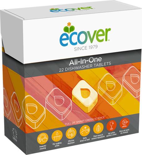 ECOVER Tablety do myčky All-In-One 25 ks + DOPRAVA ZDARMA po celý rok!