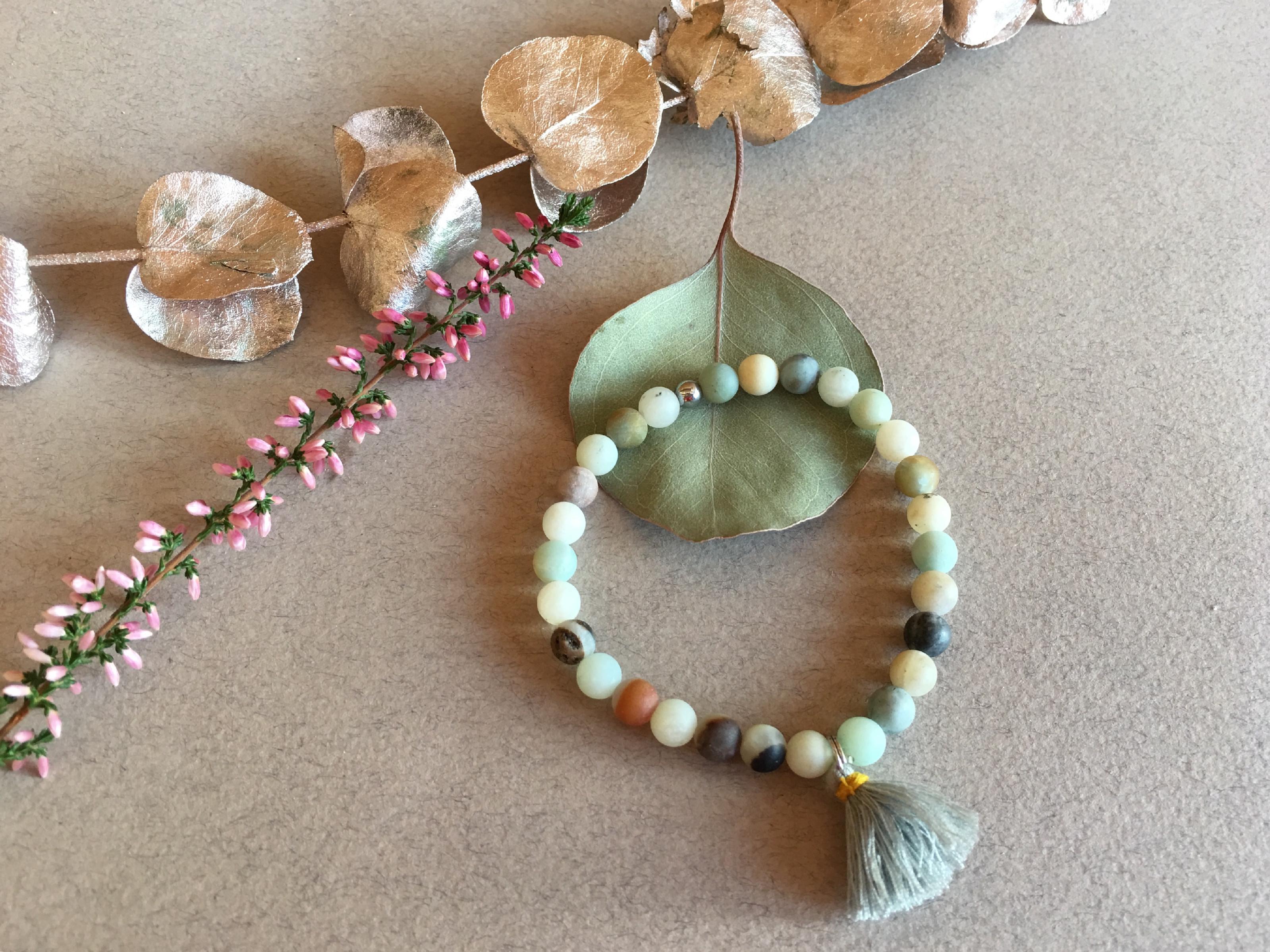 2bears Jewellery Dámský náramek Barevný Opál a Amazonit se symbolem Anděla + DOPRAVA ZDARMA po celý rok!